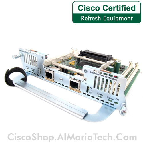 USED Cisco NM-HDV2-2T1//E1 IP Communications High-Density Voice Network Module